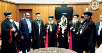 Ethiopian Patriarch visit malankara