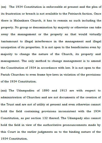 Malankara Church Court Order